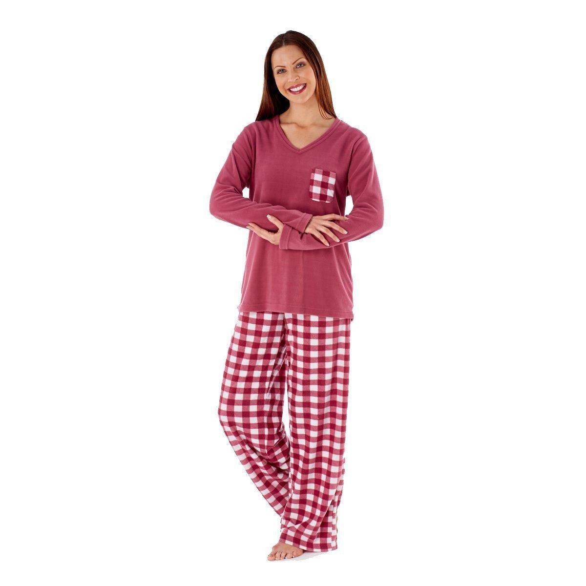 91538a227f6c Selena Secrets Ladies Fleece Pyjama Set - Cherry