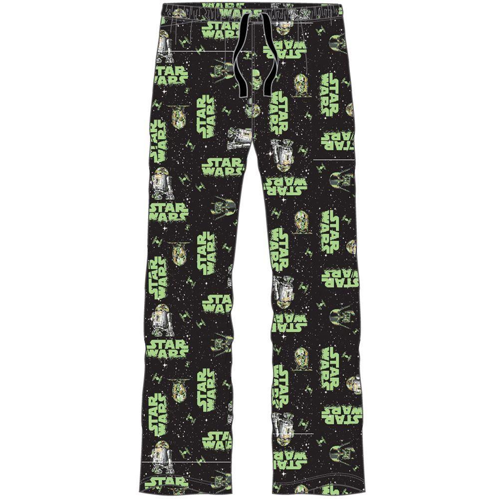 Mens Star Wars Lounge Pants - Black/Green