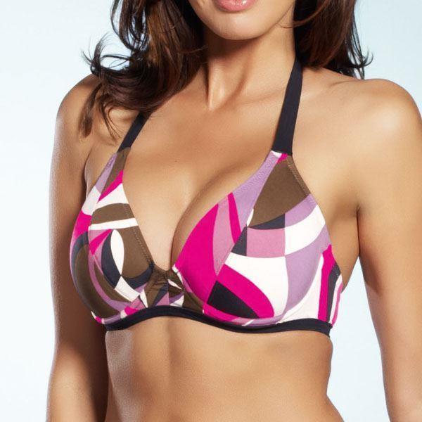Fantasie Athens Halter Bikini Top - Pink Flambe