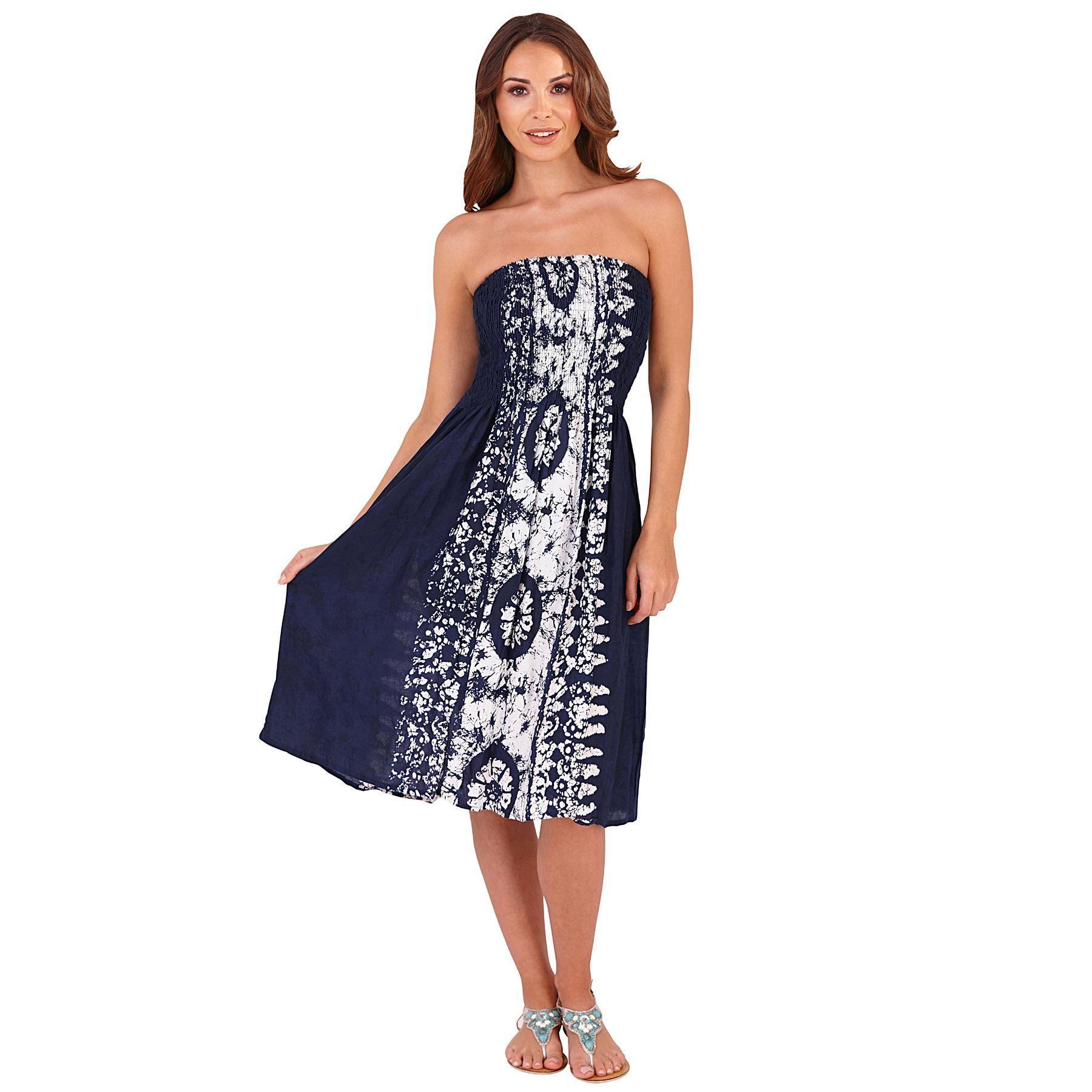 Pistachio Tie Dye 3 in 1 Dress/Skirt - Navy