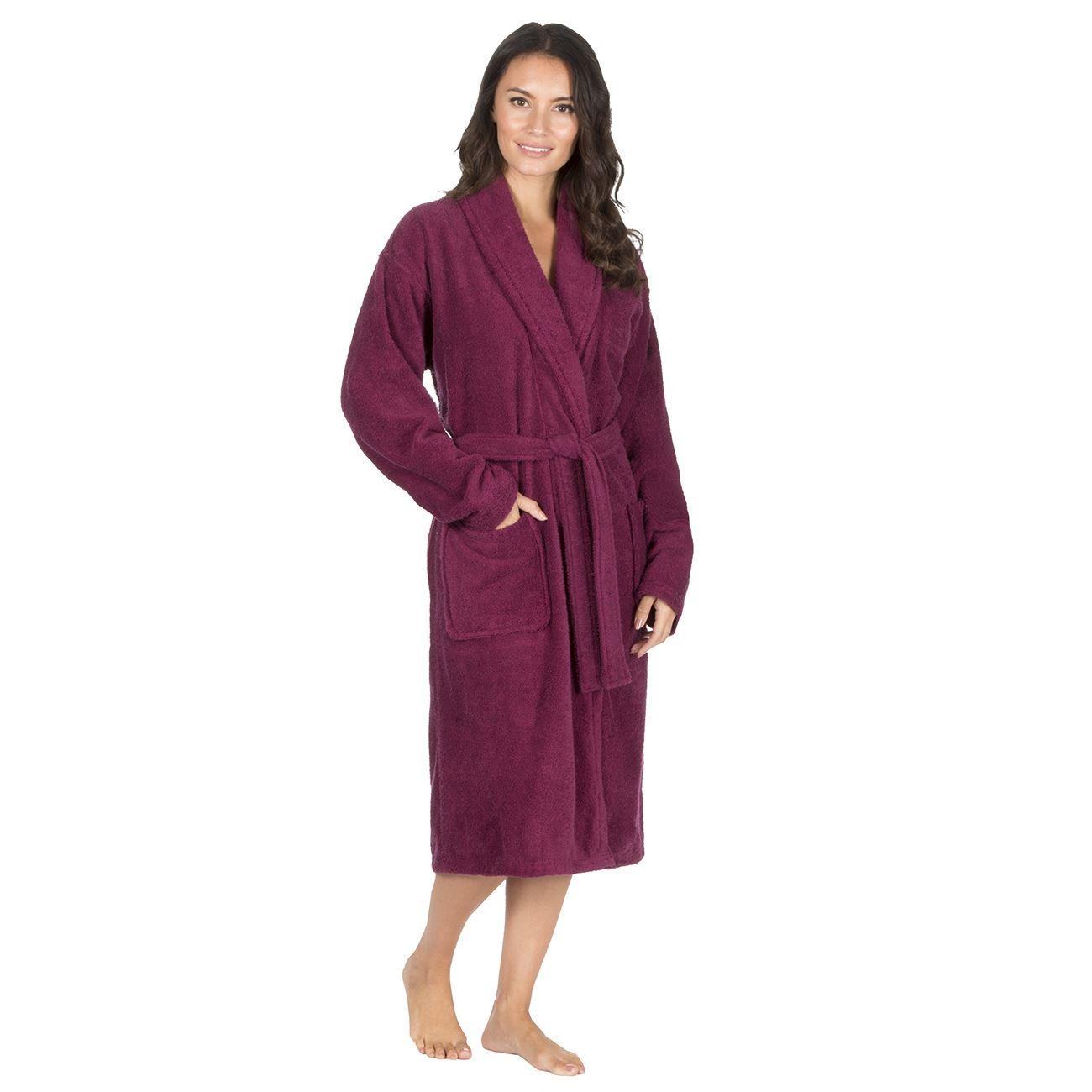 Forever Dreaming Cotton Towelling Robe - Berry