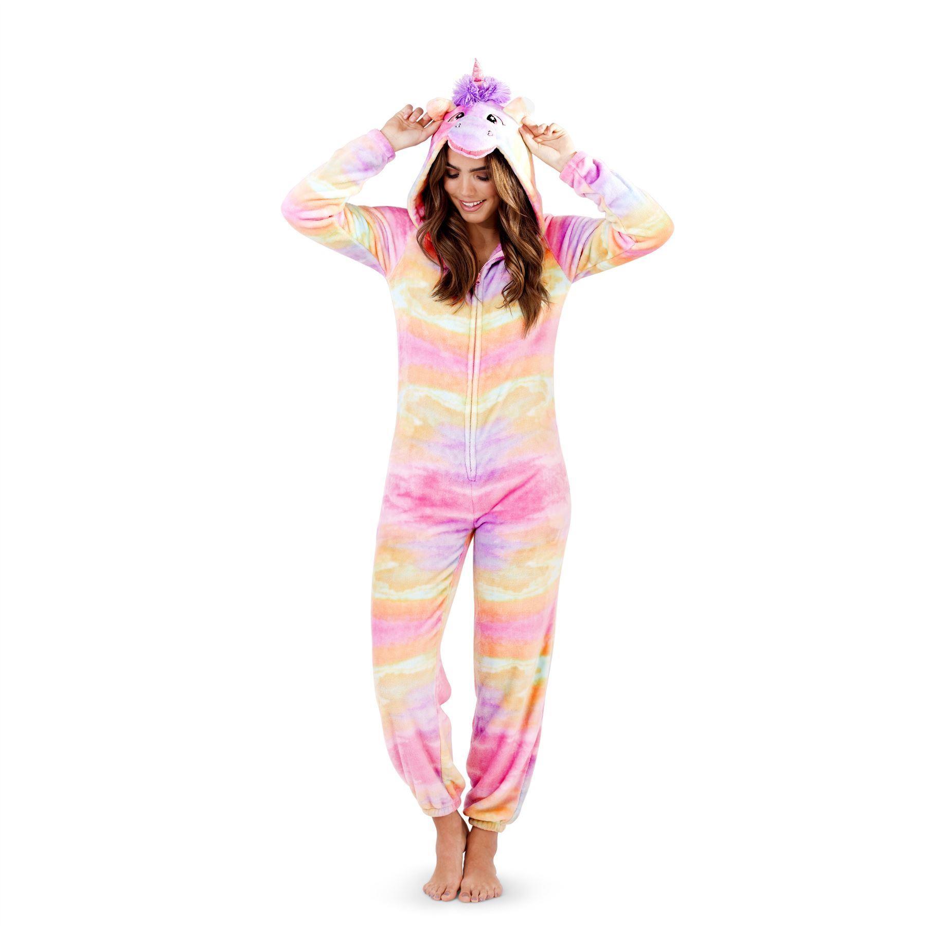 Loungeable Boutique Rainbow Unicorn Onesie