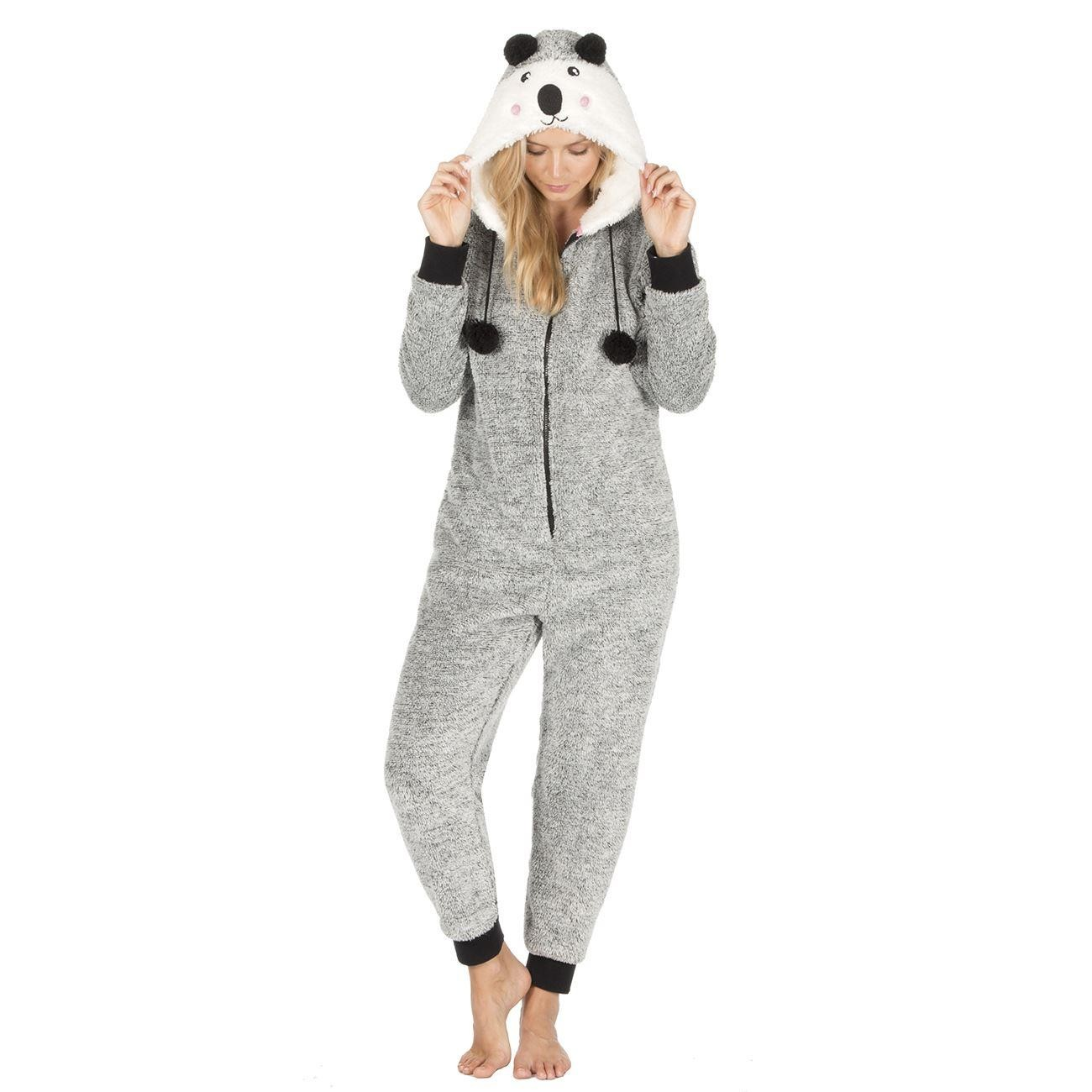 Onezee Novelty Two Tone Snuggle Onesie - Black