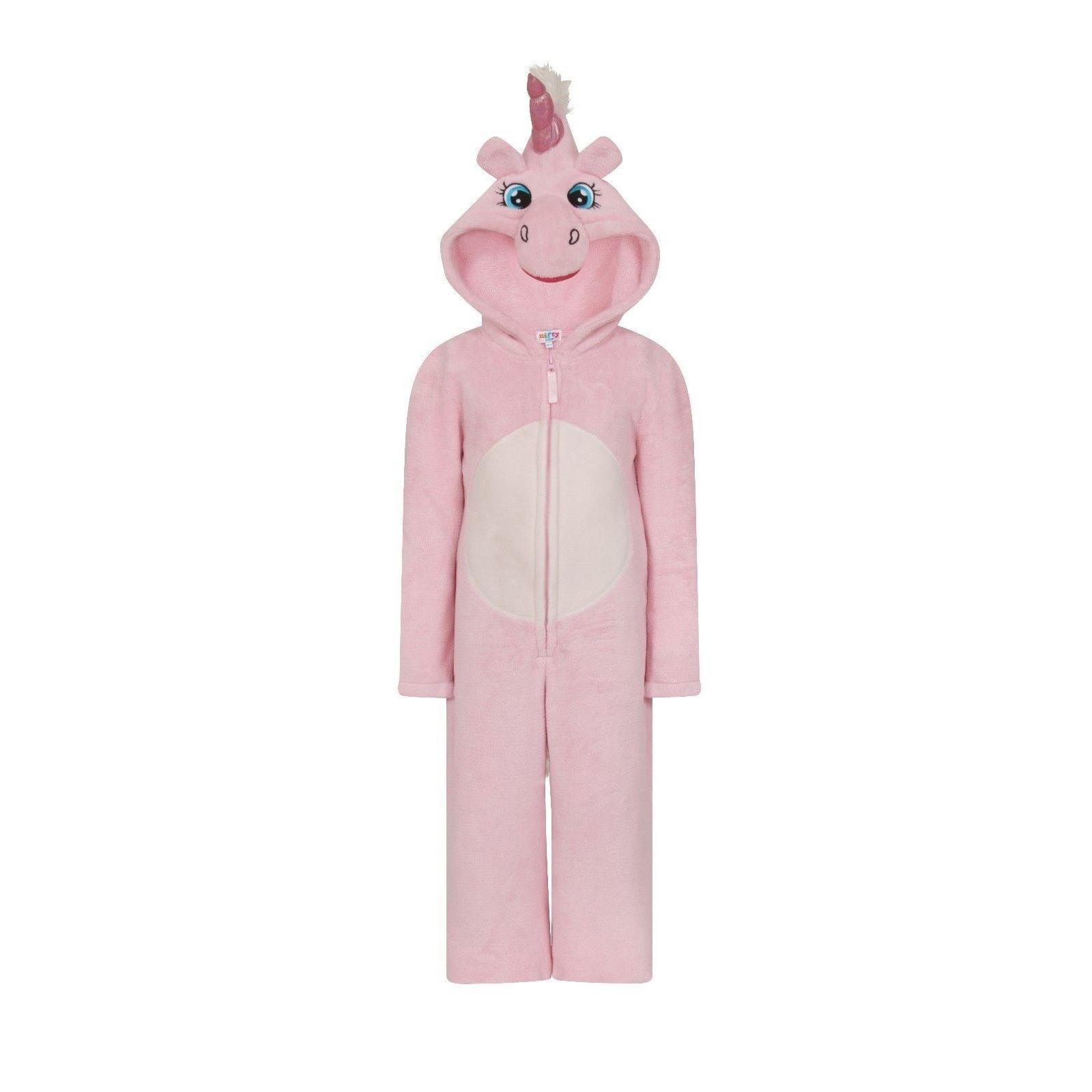 Nifty Kids Unicorn Fleece Onesie - Pink