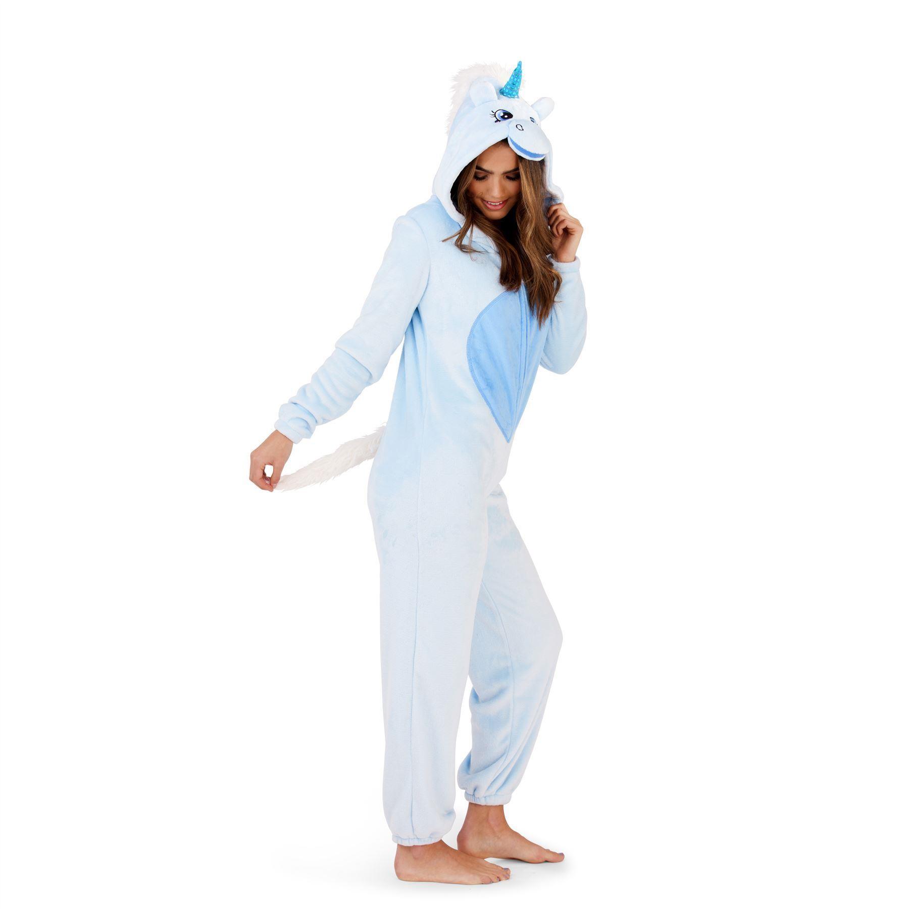Loungeable Boutique Unicorn Onesie - Blue