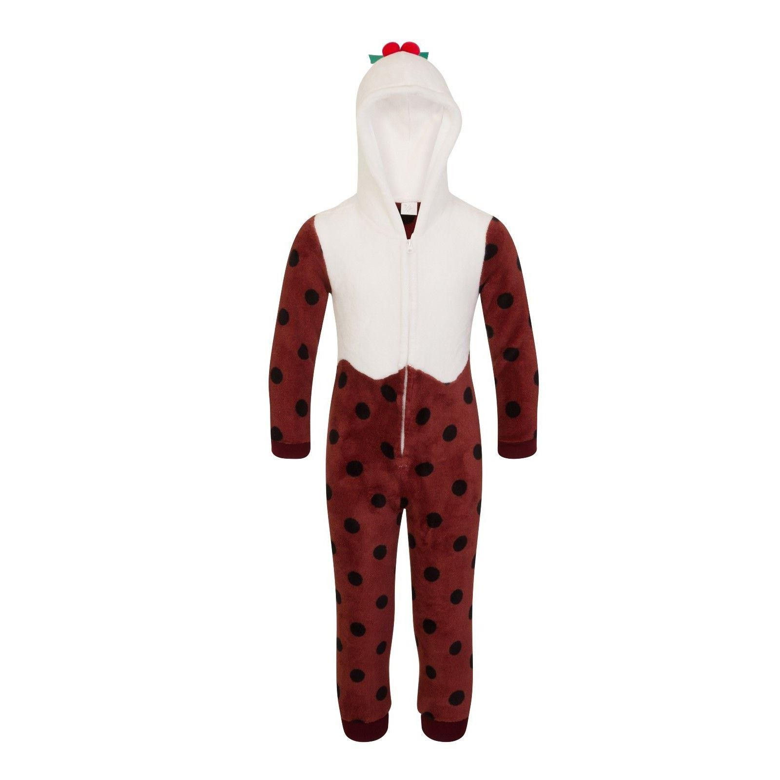 Nifty Kids Christmas Pudding Fleece Onesie