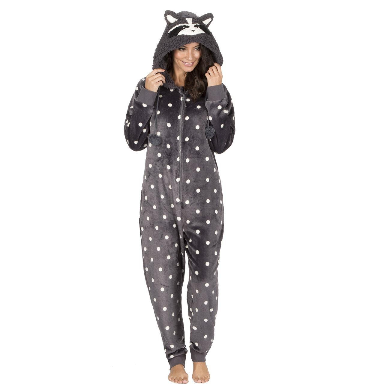 Onezee Novelty Flannel Onesie - Black