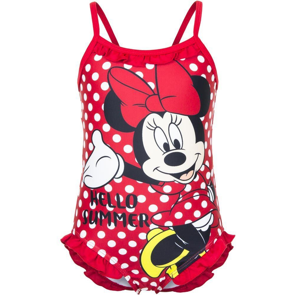 Girls Disney Minnie Mouse 'Hello Summer' Red Swimsuit