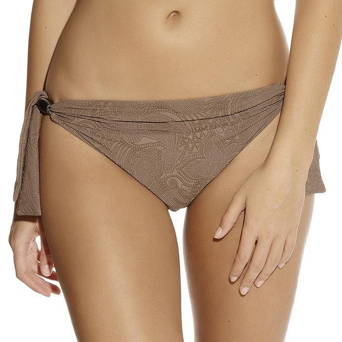 Fantasie Lombok Scarf Tie Bikini Brief - Truffle