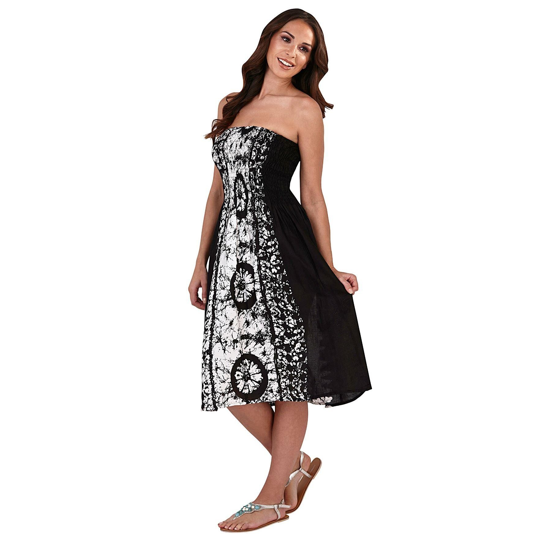 Pistachio Tie Dye 3 in 1 Dress/Skirt - Black
