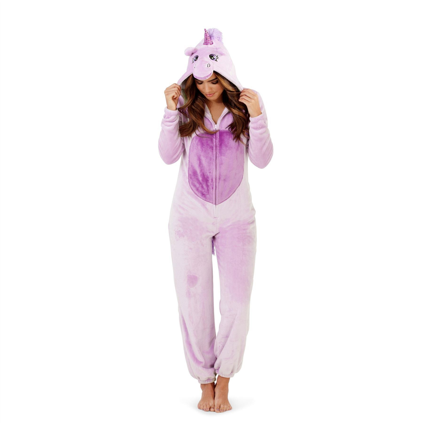 Loungeable Boutique Unicorn Onesie - Purple