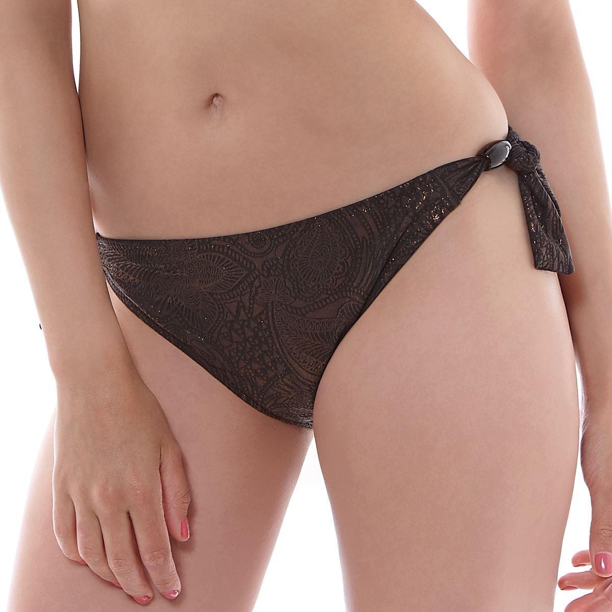 Fantasie St Barts Mid Rise Scarf Tie Bikini Brief - Bronze