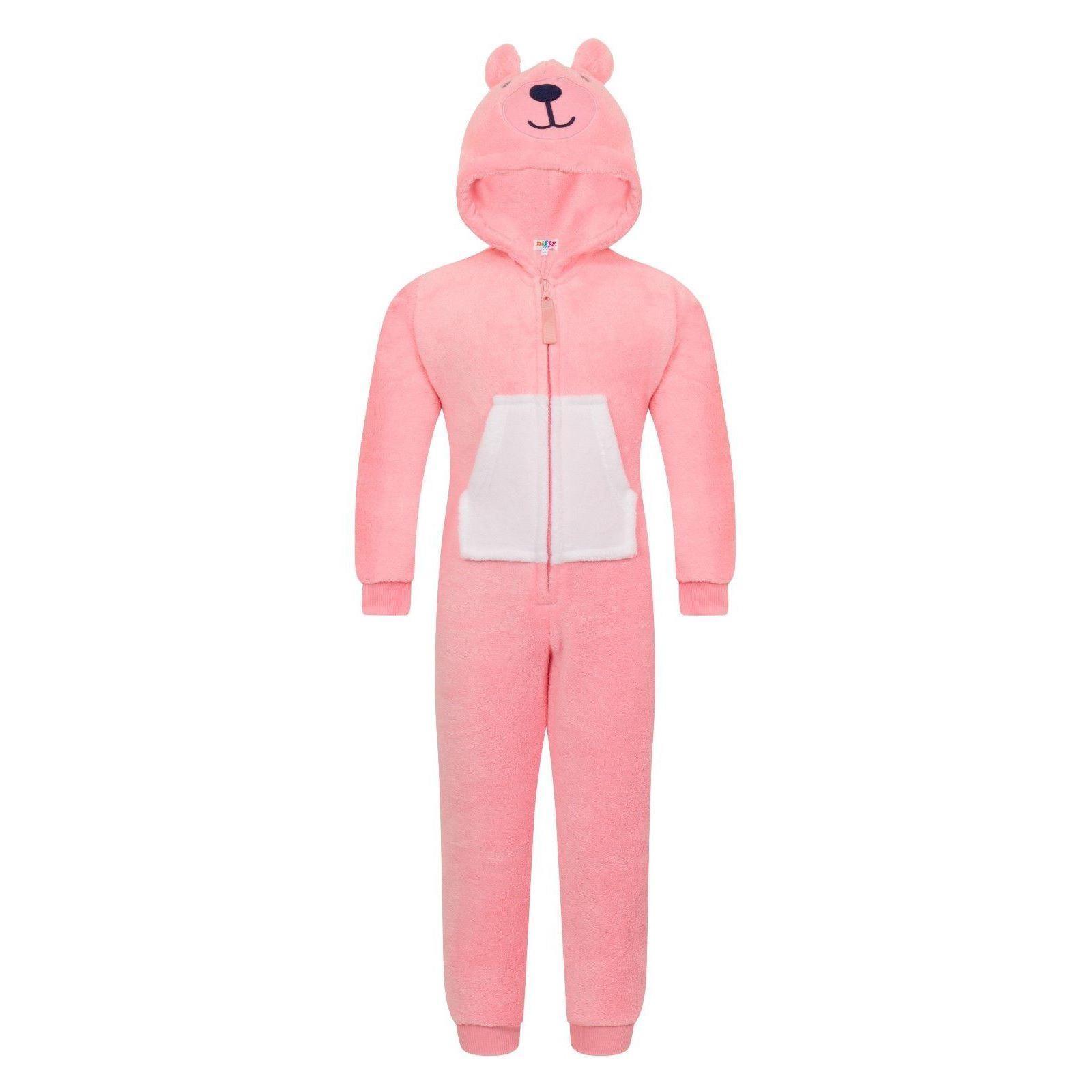 Nifty Kids Teddy Bear Fleece Onesie