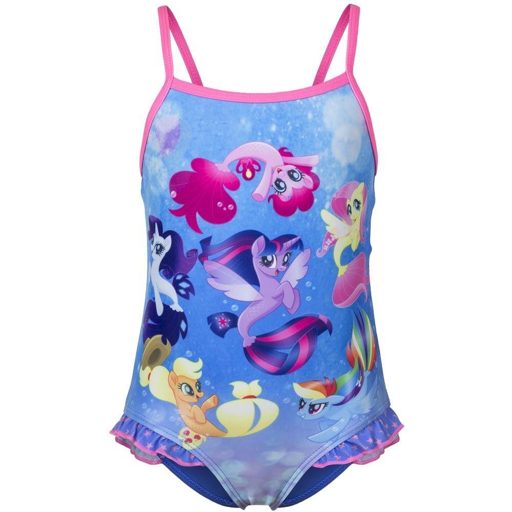 Girls My Little Pony Swimsuit - Blue/Pink