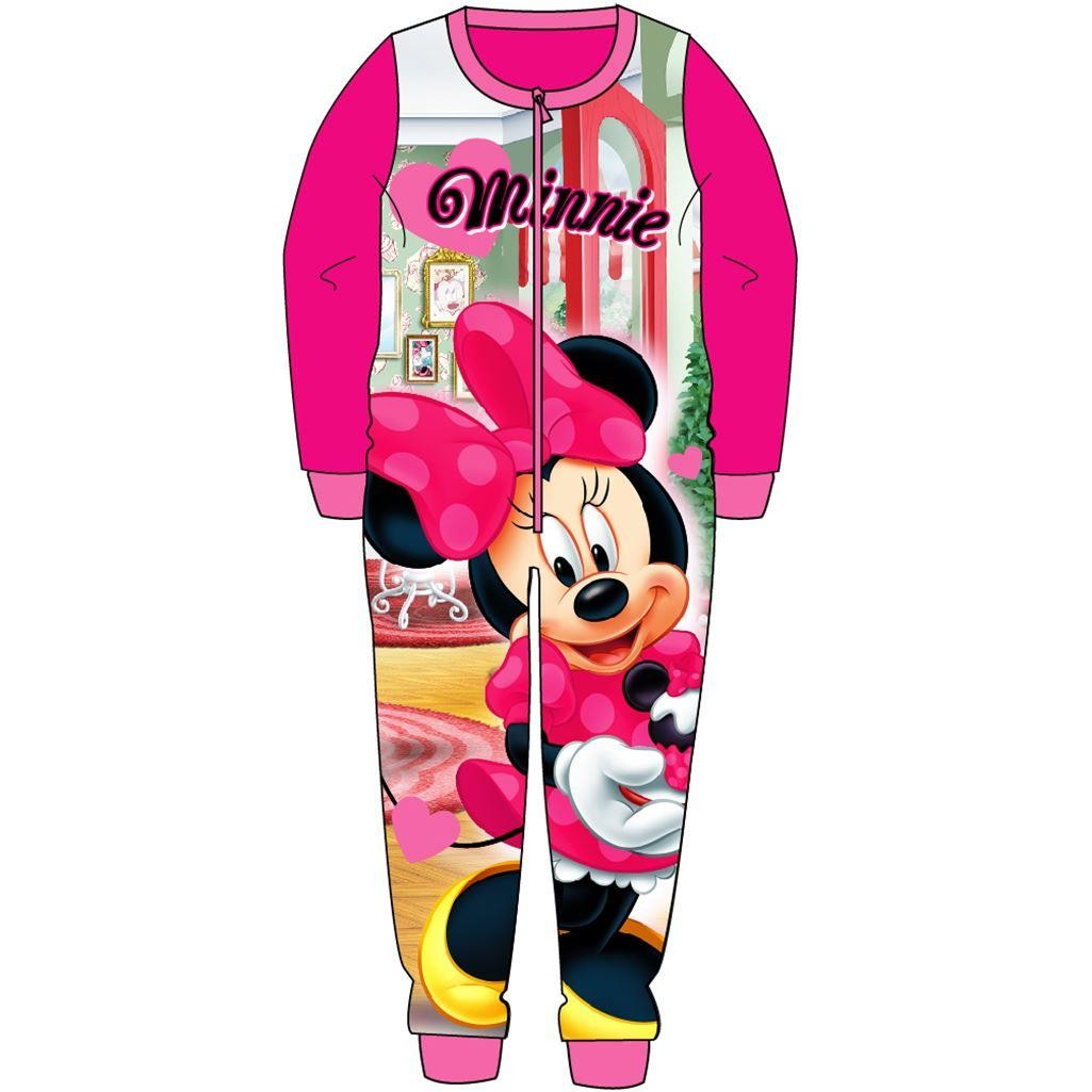 Minnie Mouse Fleece Onesie - Pink