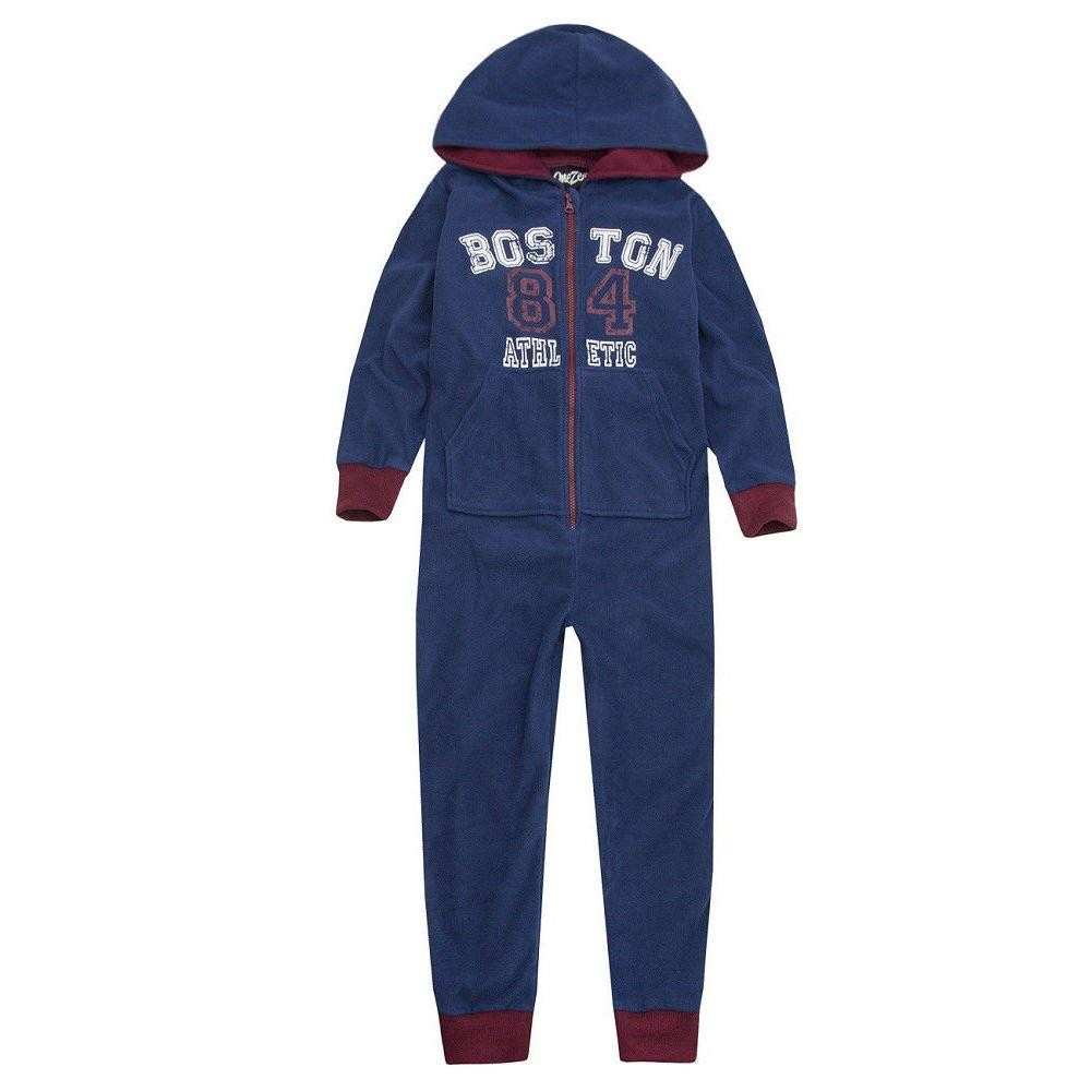 Onezee Logo Fleece Onesie - Blue