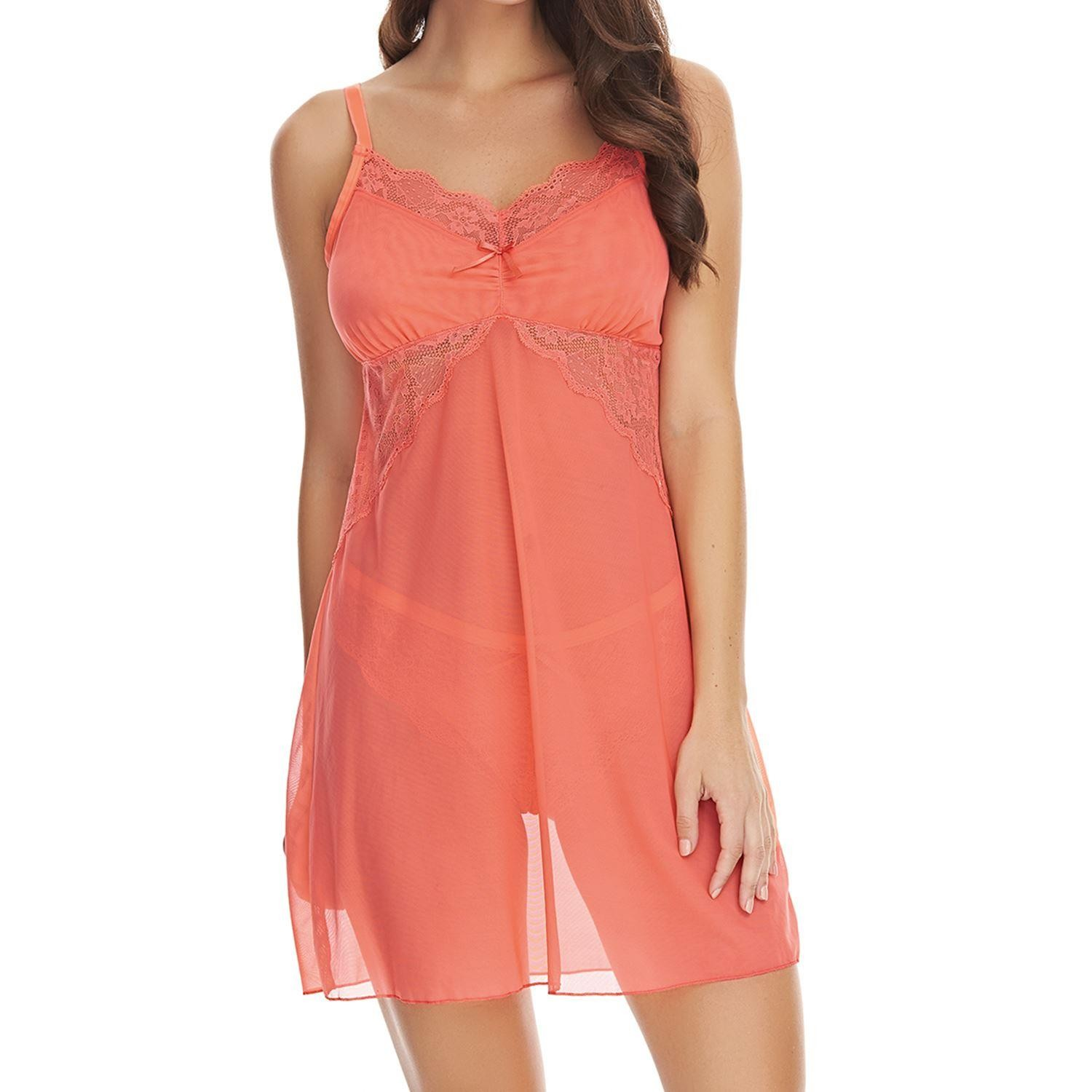 Freya Fancies Chemise - Hot Coral