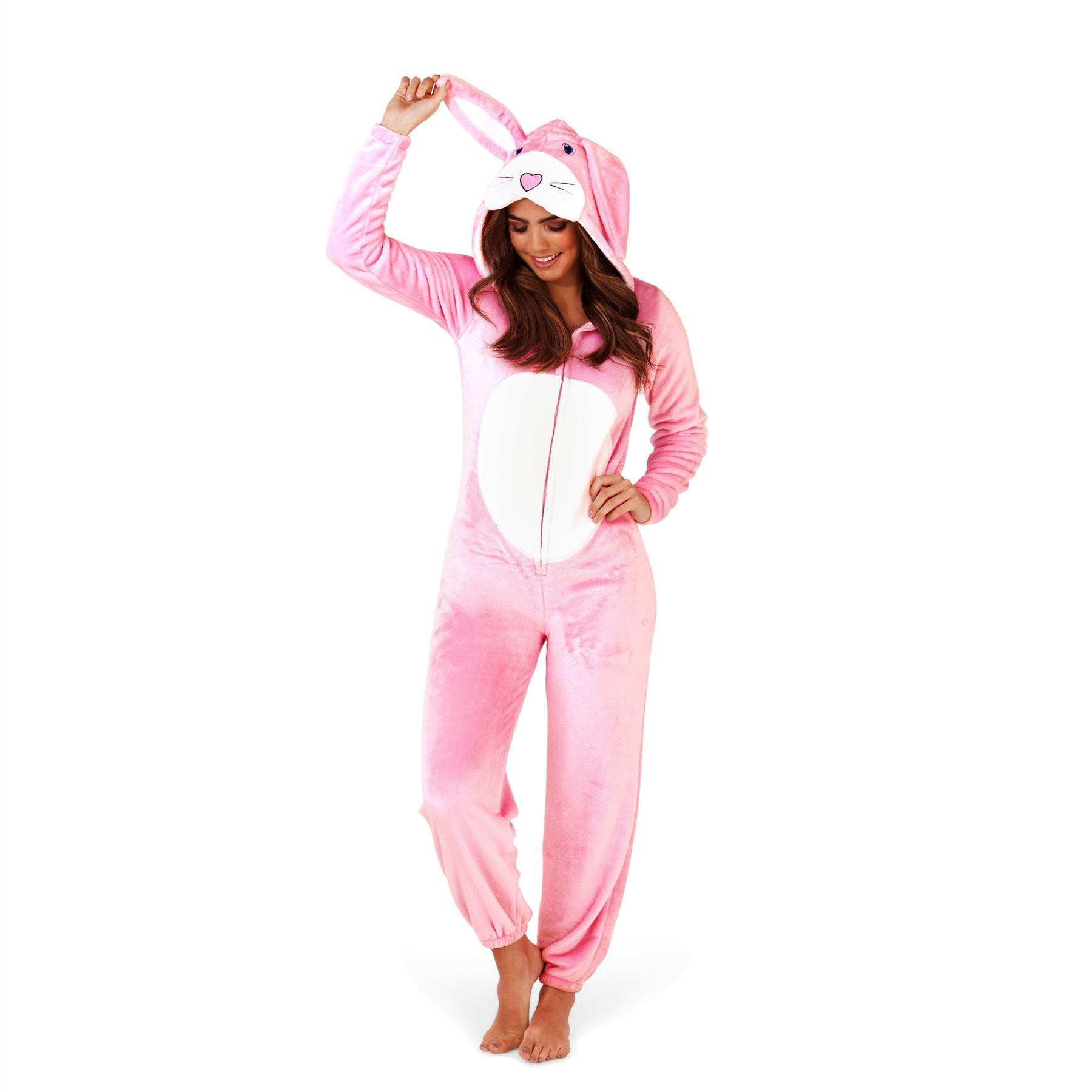 Loungeable Boutique Pink Rabbit Onesie