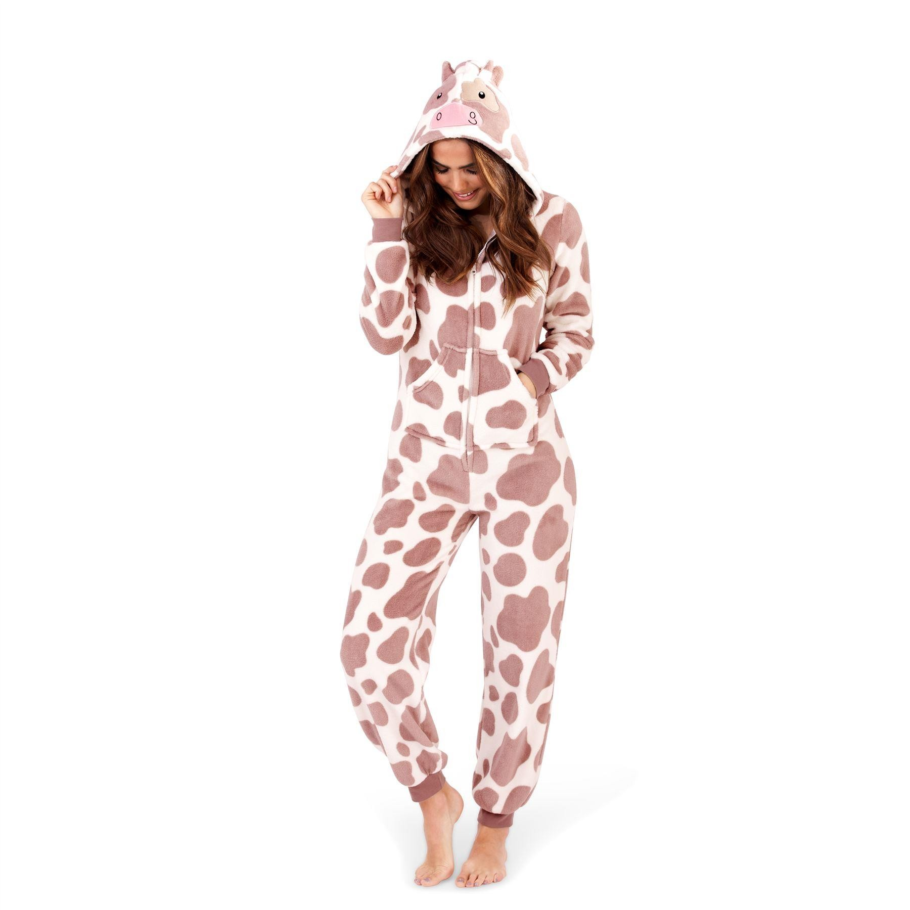 Loungeable Boutique Cow Print Onesie