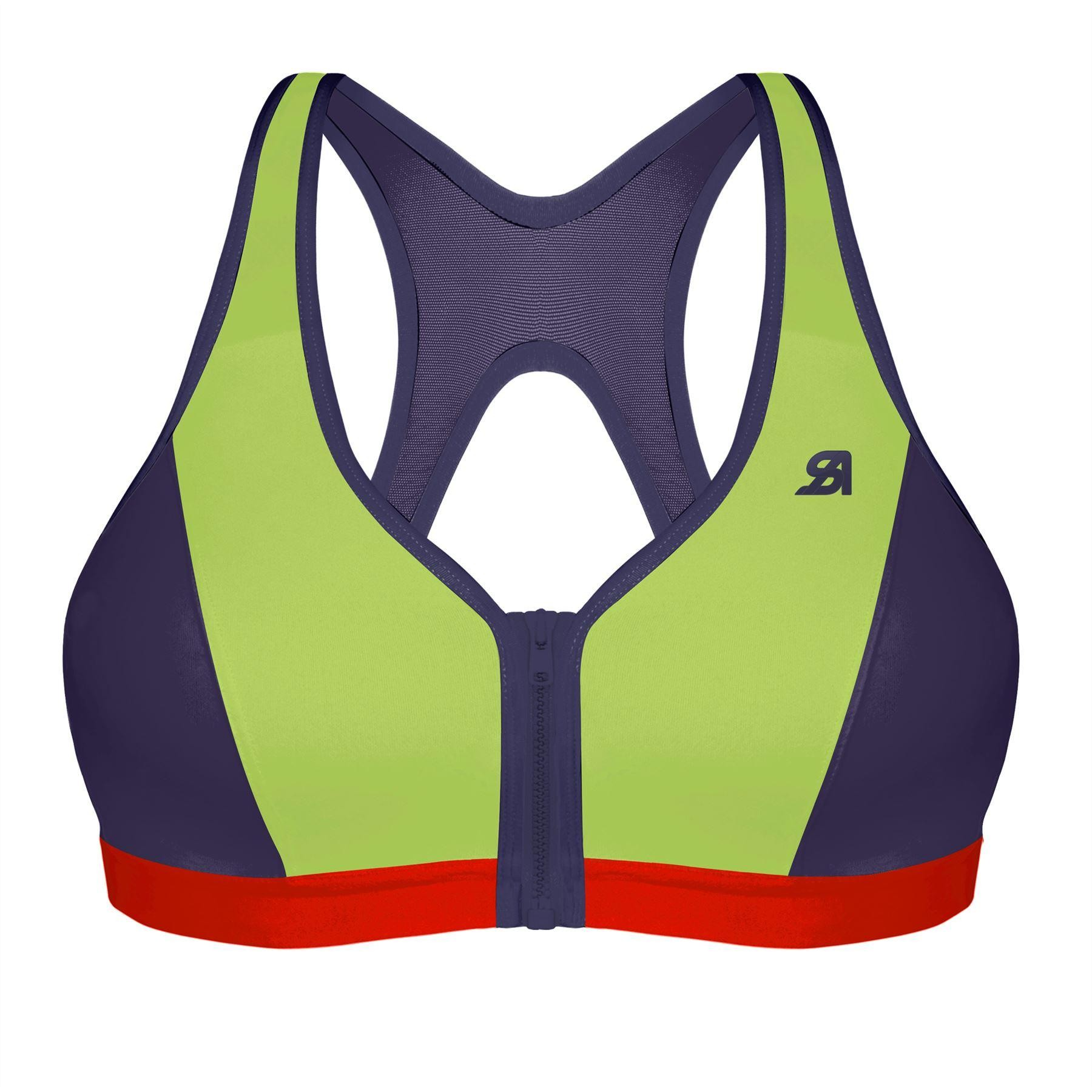 23fcea98c5c Shock Absorber Active Zipped Plunge Sports Bra - Multi