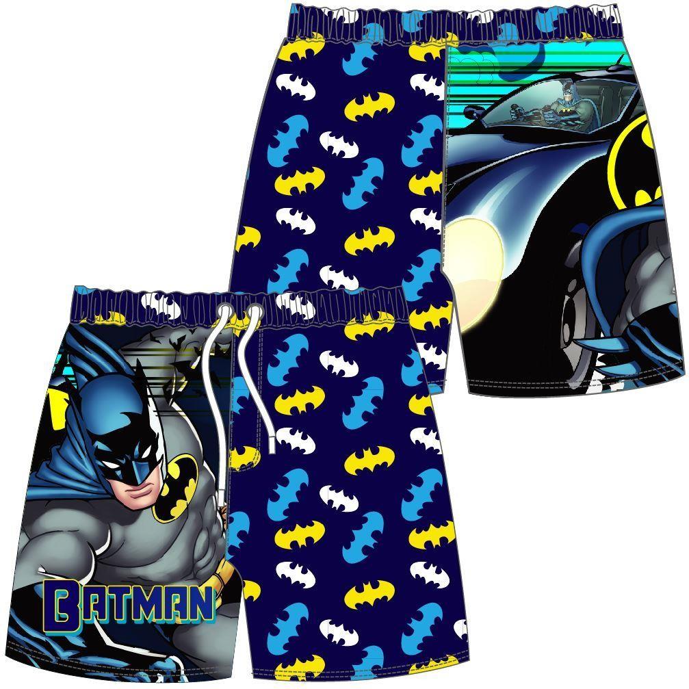 Boys Batman Cartoon/Logo Swim Shorts