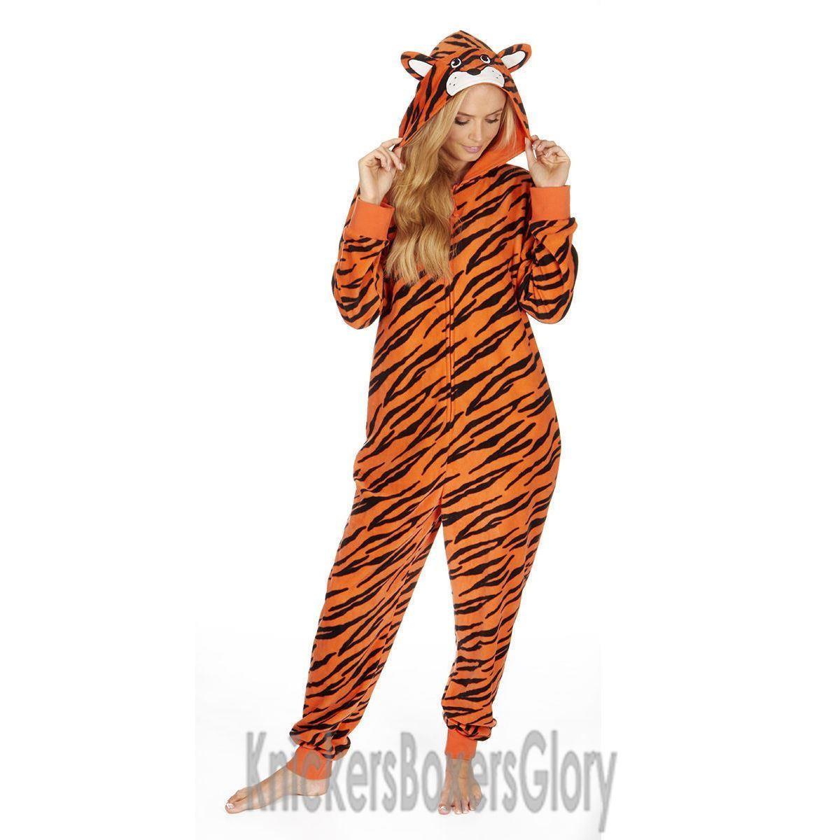 Onezee Tiger Fleece Onesie - Orange
