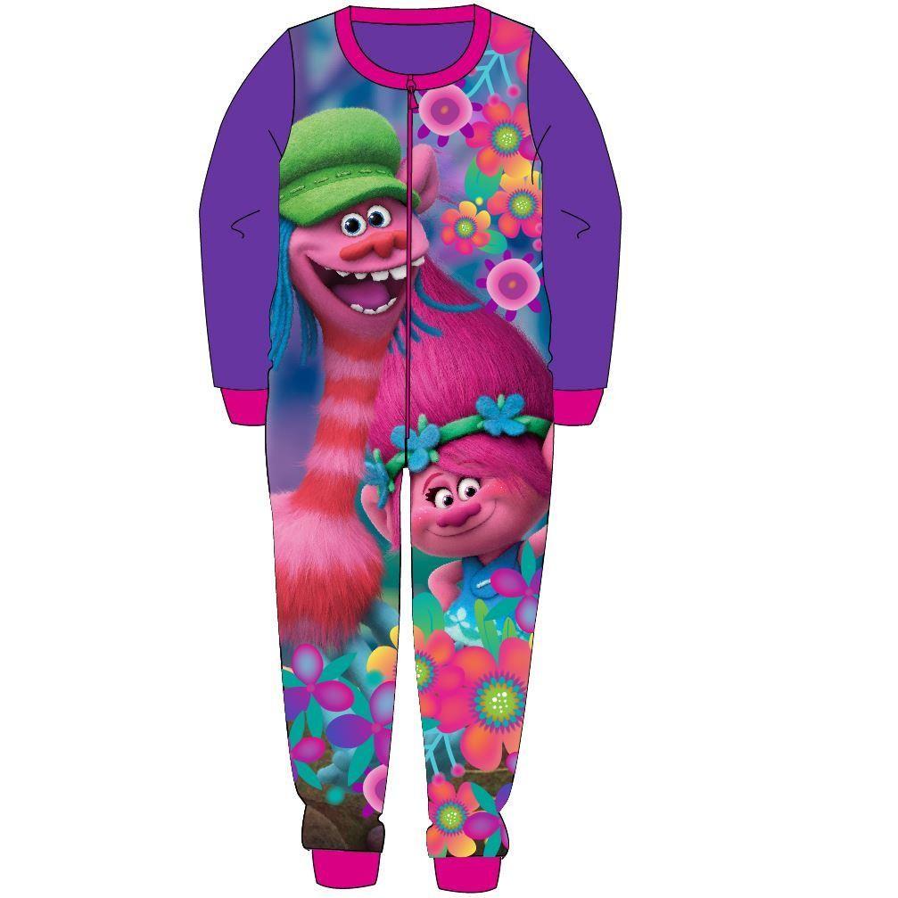 Trolls Fleece Onesie - Purple/Pink