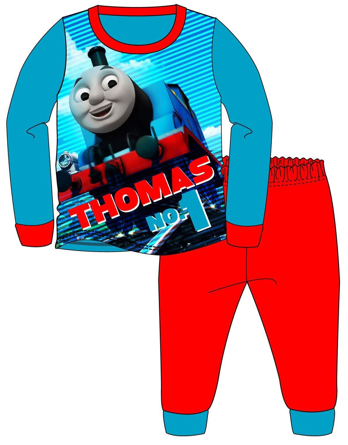 Boys Thomas 'No. 1' Pyjamas - Blue/Red