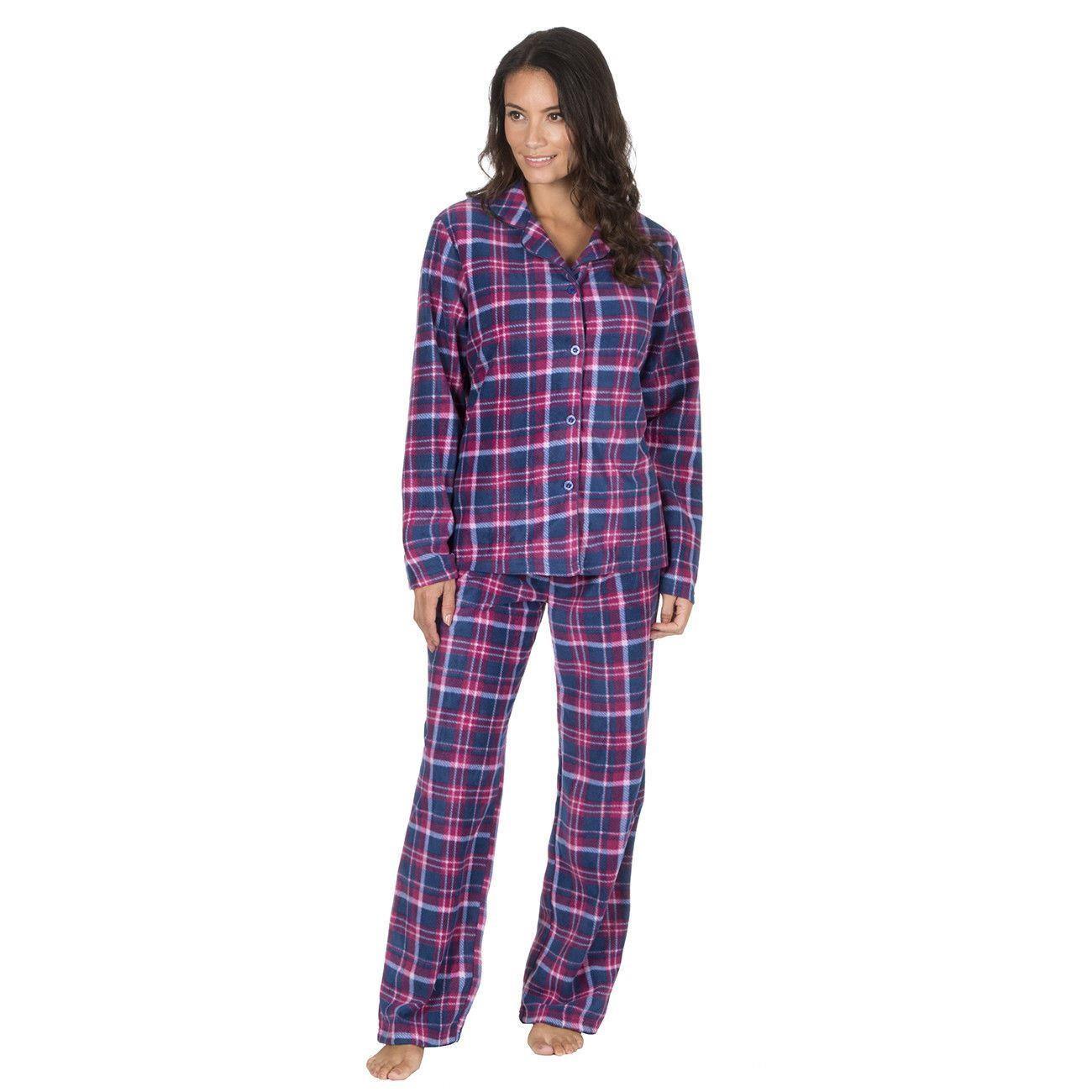 Forever Dreaming Fleece Check Pyjama Set - Navy  13105a165