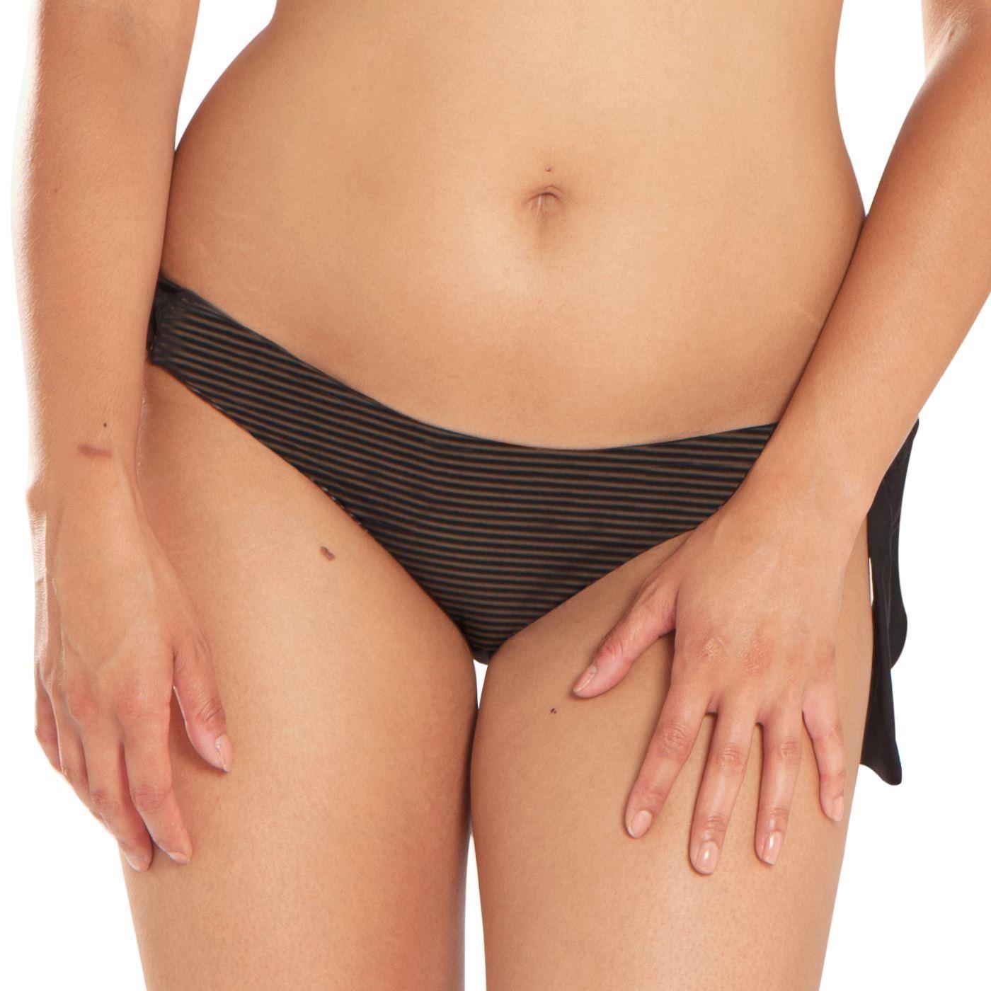 Curvy Kate Onyx Tie Side Bikini Brief - Black Stripe