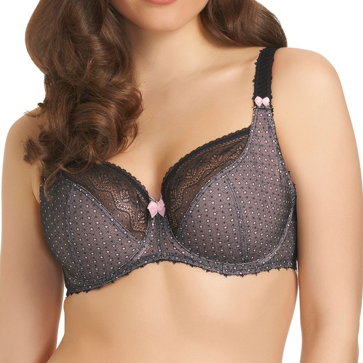 Freya Gem Underwired Balcony Bra GG - K Cup - Black