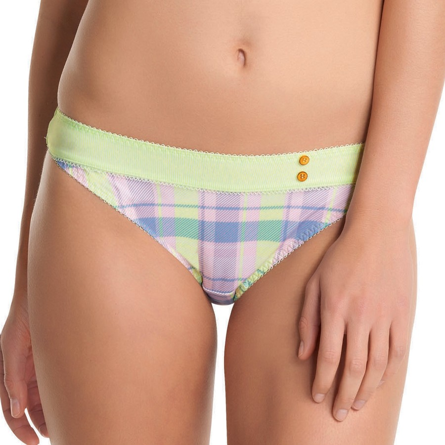 Freya Totally Tartan Brief - Zest