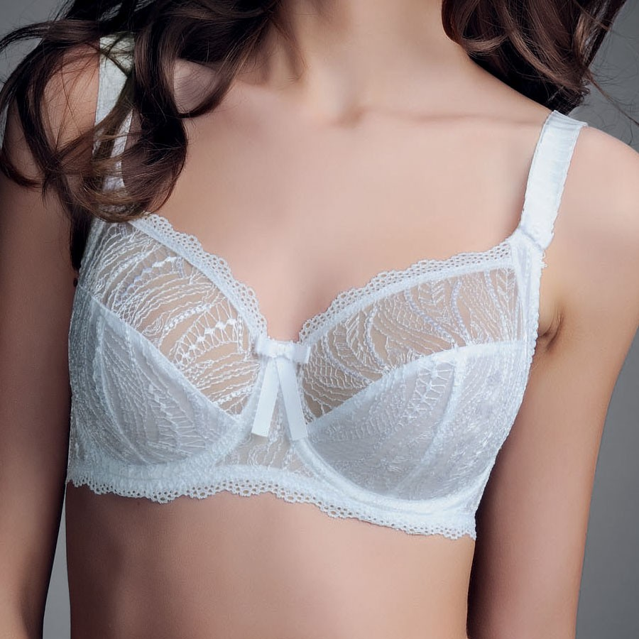 Fauve Maya Full Cup Bra With Side Support - White