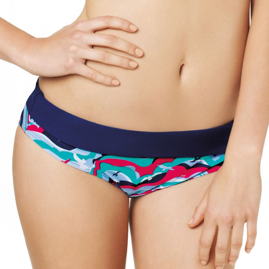 Panache Cleo Tilly Fold Bikini Pant - Bird Print