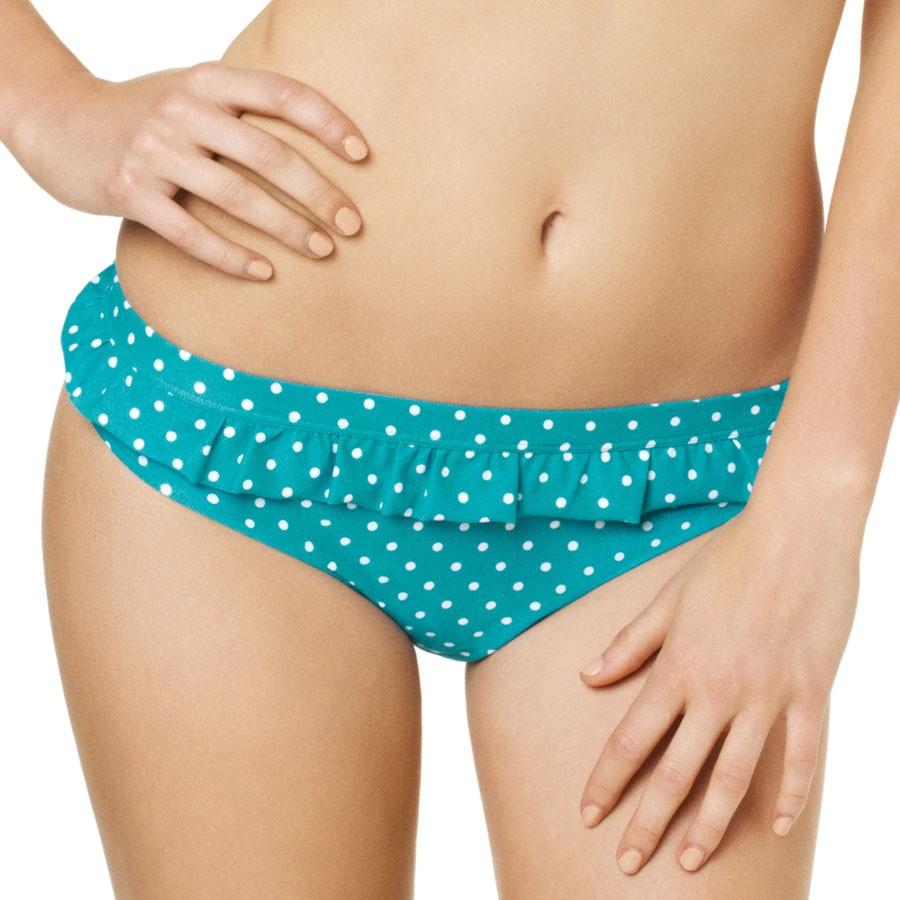 Panache Cleo Betty Frill Bikini Pant - Aquamarine