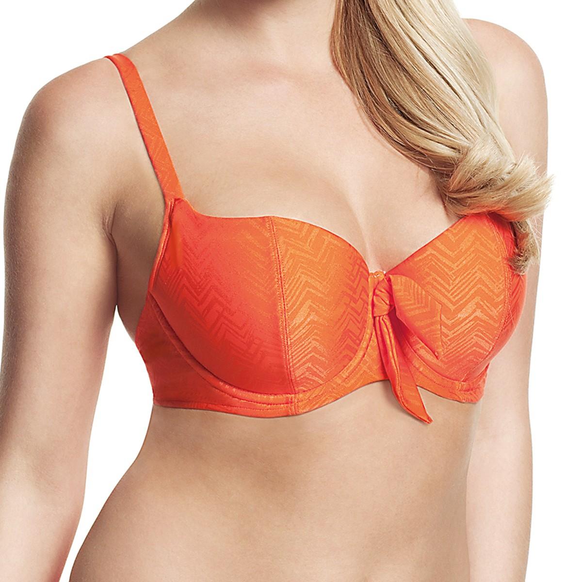 Panache Cleo Rita Padded Balconnet Bikini Top - Orange Print