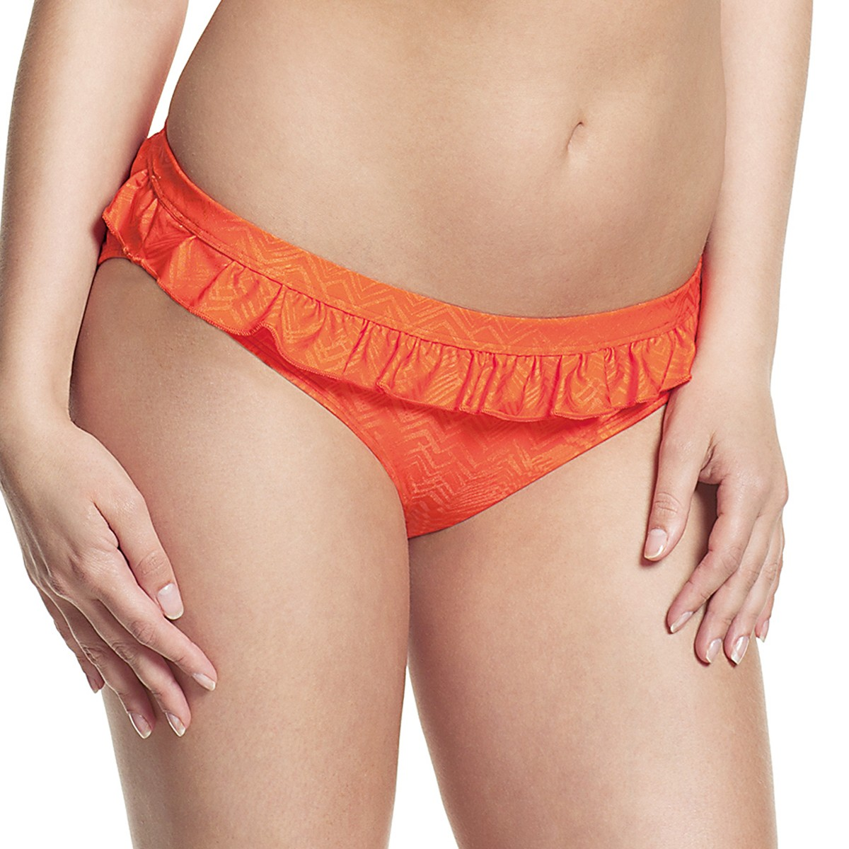 Panache Cleo Rita Frill Bikini Brief - Orange Print