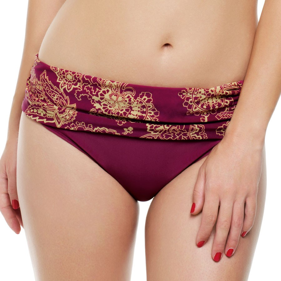 Panache Veronica Folded Bikini Brief - Paisley Print