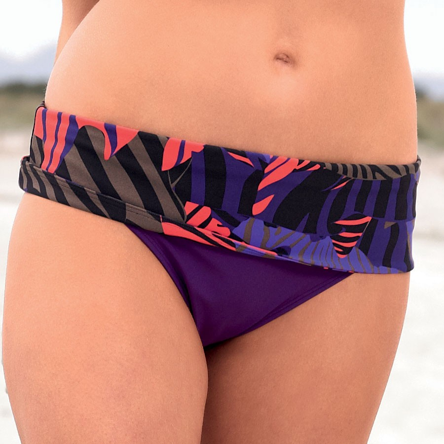 Panache Suzette Folded Bikini Brief - Purple