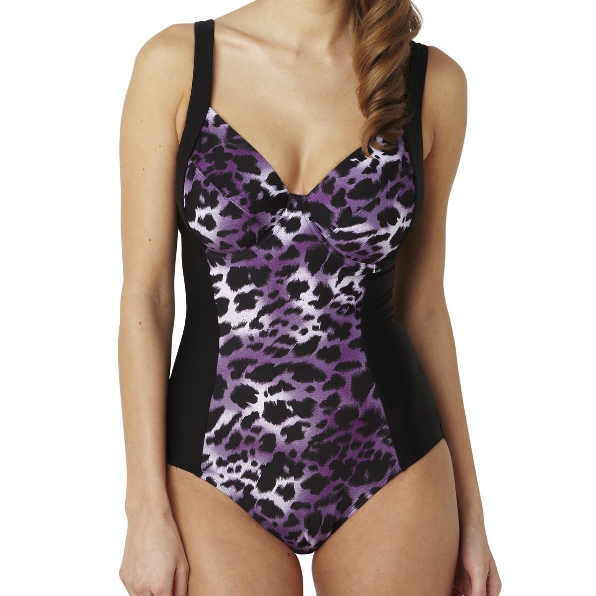 Panache Tallulah Balconnet Swimsuit - Purple Animal