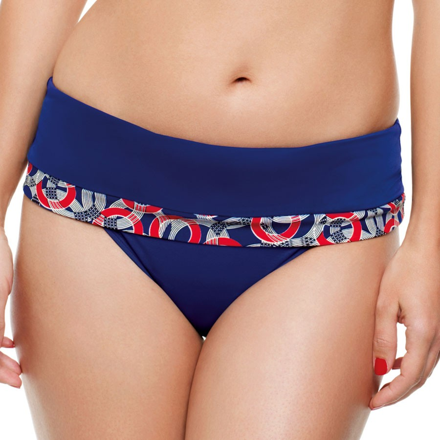 Panache Nancy Folded Bikini Brief - Nautical