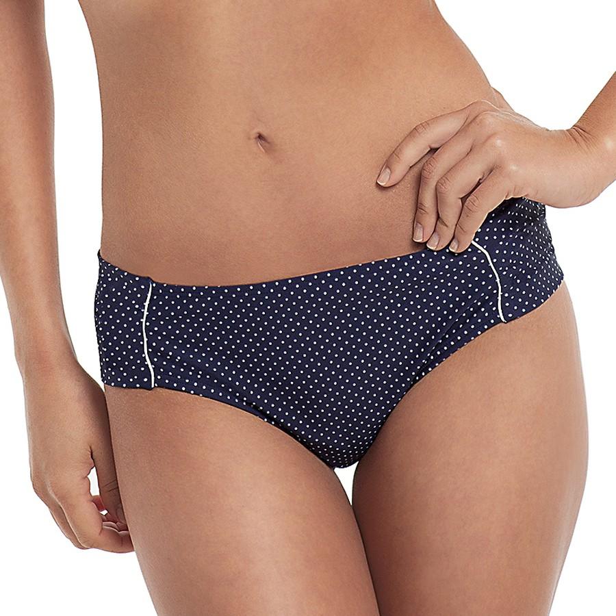 Panache Britt Gather Bikini Brief - Navy