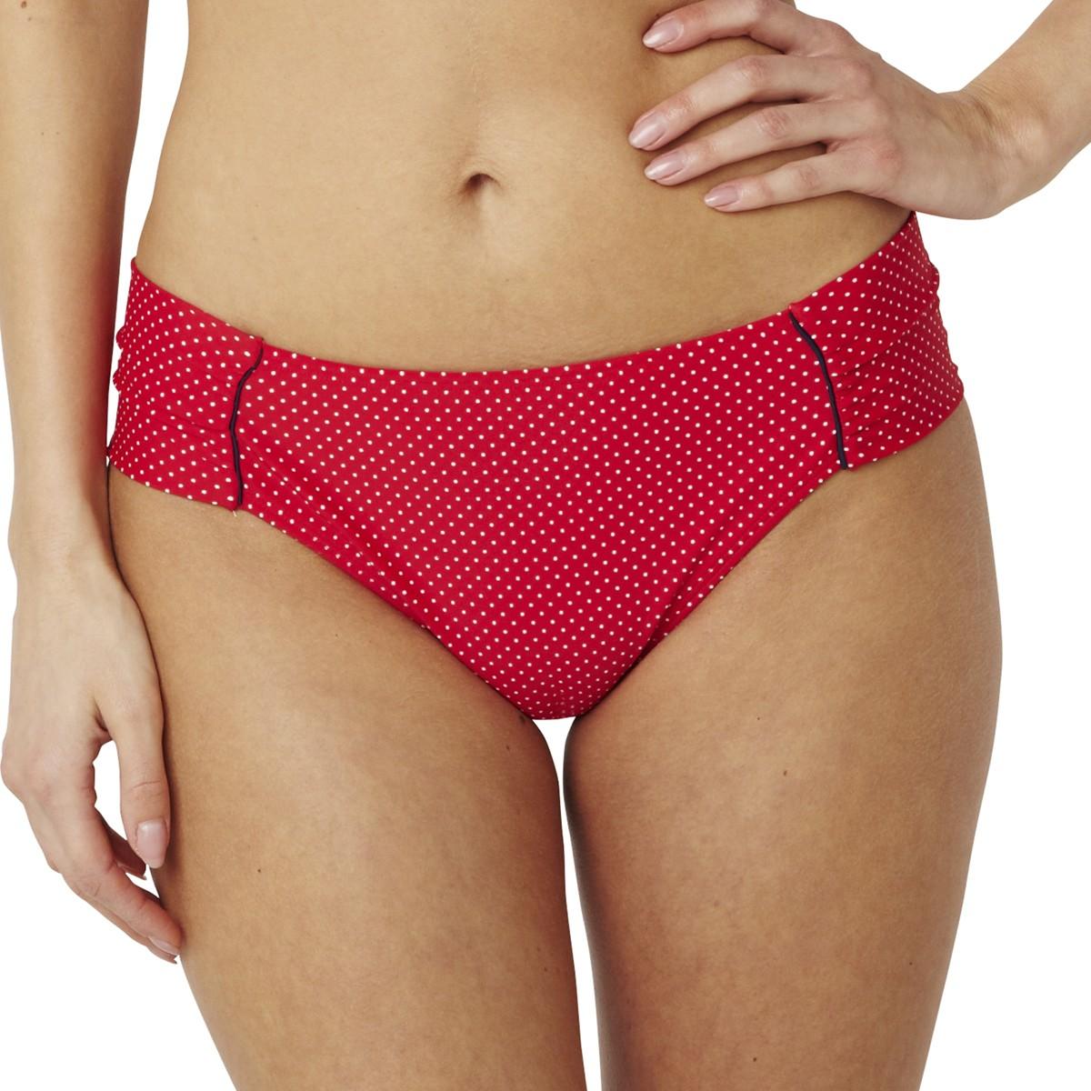 Panache Britt Gather Bikini Brief - Red