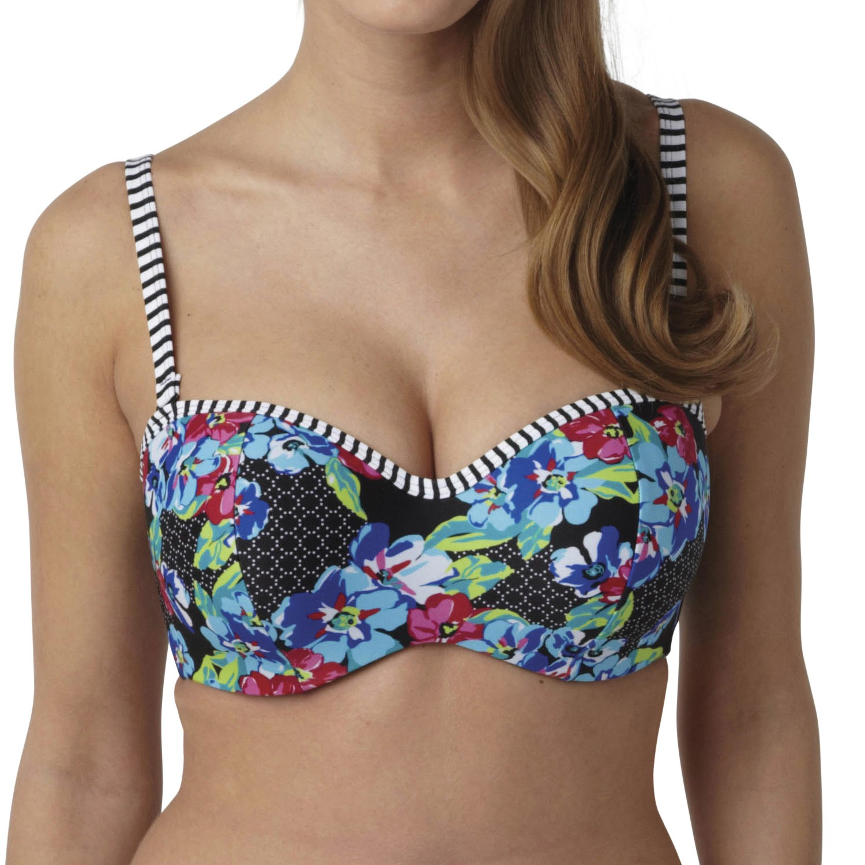 Panache Elle Bandeau Bikini Top - Floral Print