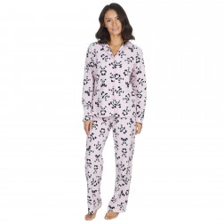 Forever Dreaming Fleece Panda Pyjama Set - Pink
