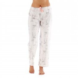 Selena Secrets Ladies Deer Print Fleece Lounge Pants