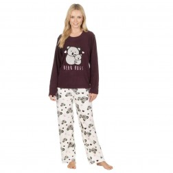 Forever Dreaming Fleece Koala Pyjama Set - Burgundy