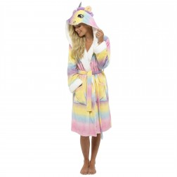 Loungeable Boutique Unicorn Hooded Robe - Multicoloured