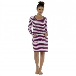 Follow That Dream 'Star Gazer' Long Sleeve Nightdress - Aubergine