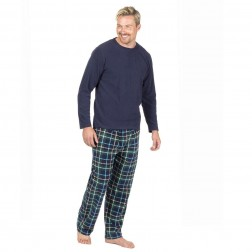 Cargo Bay Mens Microfleece Pyjama Set - Navy